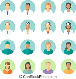 plano, foro, médico, avatars, pacientes, doctors