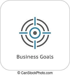 plano, icon., metas, empresa / negocio, design.