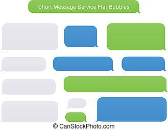 plano, mensaje, cortocircuito, burbujas, servicio