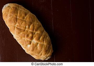 Plano sobre pan casero casero casero casero con espacio de copia