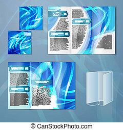 Planta azul de folleto
