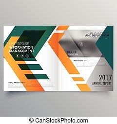 Planta de diseño de diseño de folletos geométricos