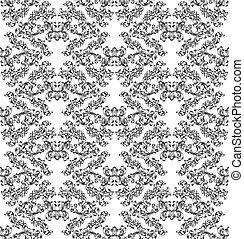 Planta de diseño de diseño floral sin azulejos