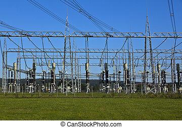 Planta de energía eléctrica en el área agrícola