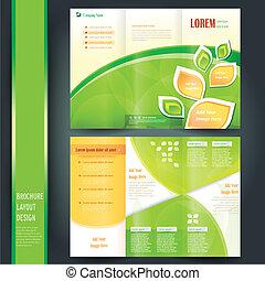 Planta de folleto de negocios