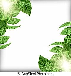 Planta de fondo verde natural