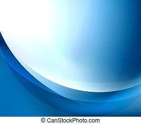 Planta de ondas azules