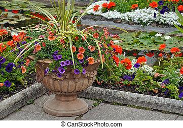 Plantador de petunia decorativa