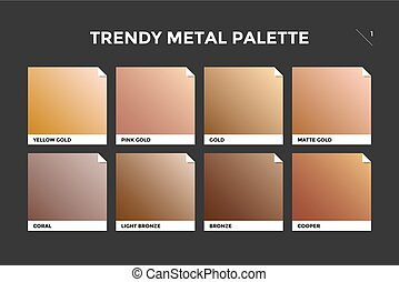 plantilla, bronce, oro, cobre, gradiente