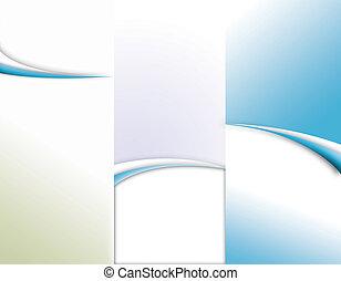 plantilla, folleto, tri-fold