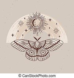 plantilla, logotipo, misterio, lineart