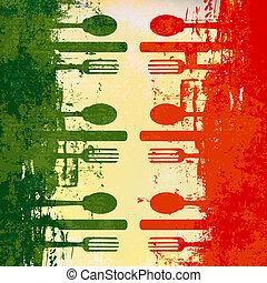 plantilla menú, italiano