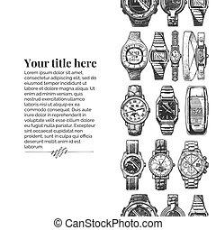 plantilla, wristwatches.