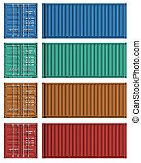 plantillas, carga, conjunto, contenedor