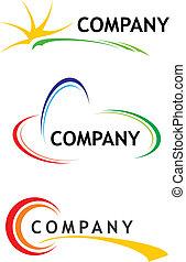 plantillas, logotipo, corporativo
