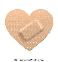 Plaster en forma de corazón