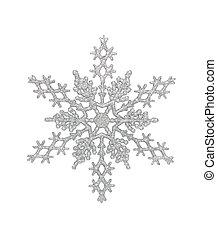 plata, copo de nieve