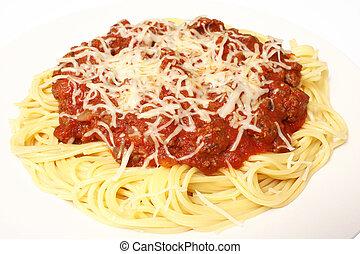 Plata de spaghetti