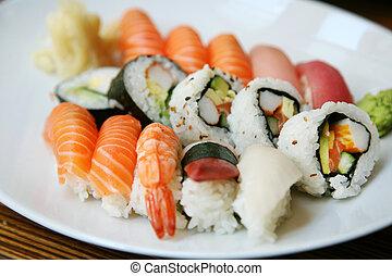 Plata de sushi