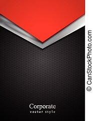 Plata oscura y flechas de tecnología roja
