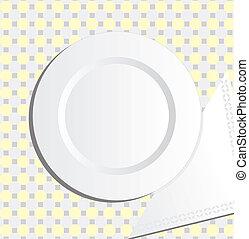 Plata y servilletero vector