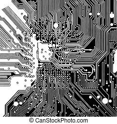 Plataforma de circuitos (vector)