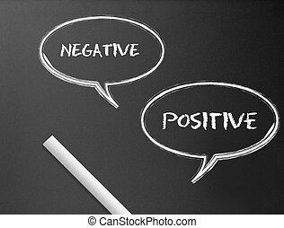 Plataforma - negativo, positivo