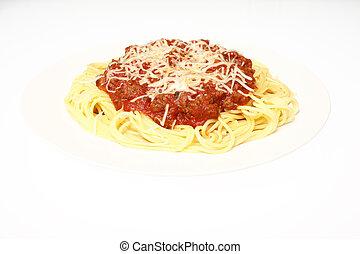 Plato de espagueti
