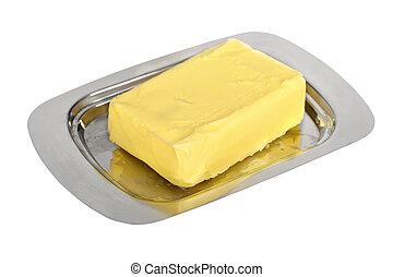 plato de mantequilla, plata