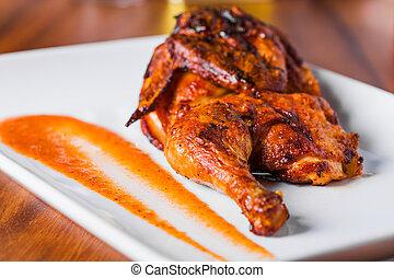 Plato de pollo asado