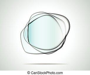 Platos de cristal transparentes