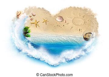 playa, amor