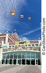 playa, asbury, vestíbulo, parque, convención