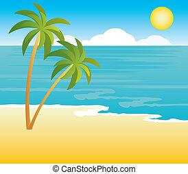 Playa con palmeras