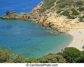 playa, crete, nero, kalo