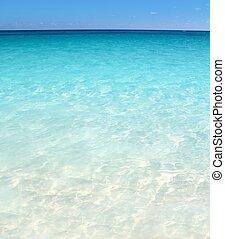 Playa de playa marítima turquesa caribeña arena blanca