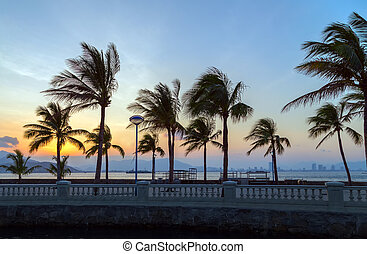 Playa del paraíso tropical de la isla