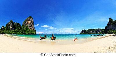 playa, krabi, andaman, railay, mar, tailandia