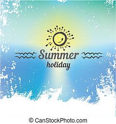 playa, paraíso, resumen, plano de fondo, verano
