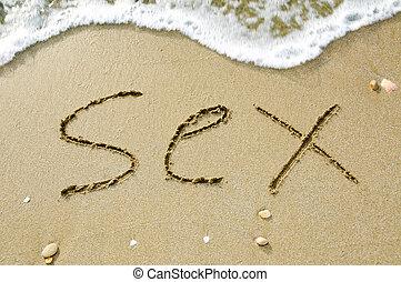 playa, sexo