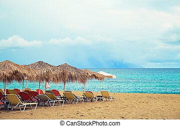 Playa tropical de verano