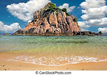 playa tropical, isla del paraíso