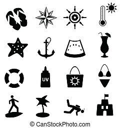 Playa, verano y iconos náuticos