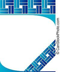 Plaza azul de fondo