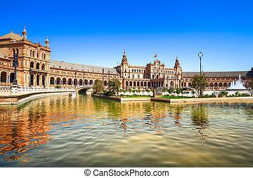 Plaza de Espana Seville, Andlusia, España, Europa