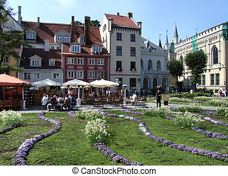 Plaza principal en riga (Latvia)