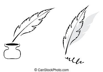 pluma, diseño