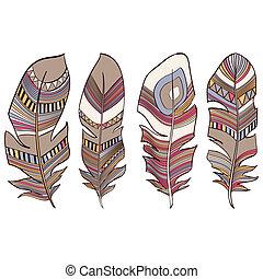 Plumas étnicas indias plumas plumas