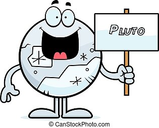 plutón, caricatura, señal