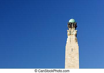 Plymouth hoe, monumento de guerra